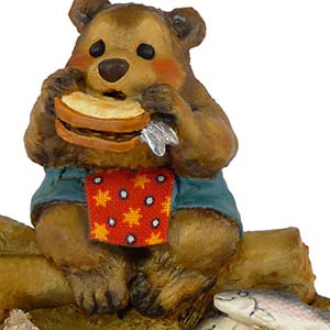 BB-3 Lunch on a Log - Wee Forest Folk Collectible - Bears