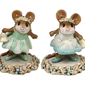 Jingle Belle &#038; Tingle Belle (set) M-304a, M-304b &#8211; Wee Forest Folk Collectible