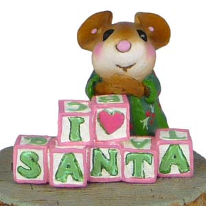 CO-8a I Love Santa – LIMITED Wee Forest Folk Collectible