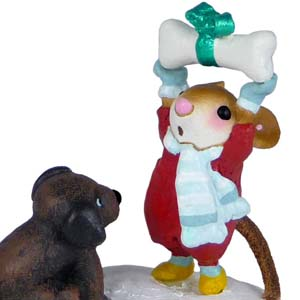 M-428a Not Until Christmas! – LIMITED Wee Forest Folk Collectible
