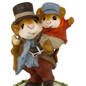 CC-2 Bob Cratchit And Tiny Tim – A Christmas Carol – Wee Forest Folk Collectible