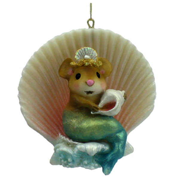 CO-6 Merry Mermouse Christmas Ornament - Wee Forest Folk