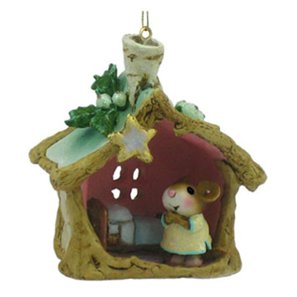 CO-8 A Little Christmas House Christmas Ornament - Wee Forest Folk