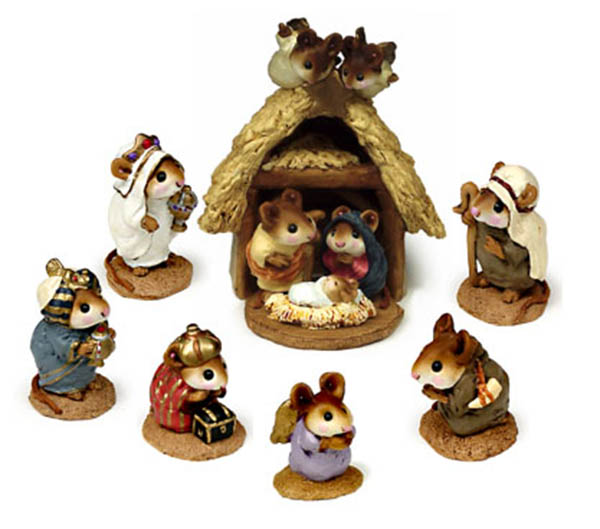 Chris-Mouse Pageant (complete Nativity set) - Wee Forest Folk Christmas Pageant