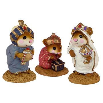 Wise Men (set of 3) M-121a, M-121b, M-121c - Wee Forest Folk Christmas Pageant
