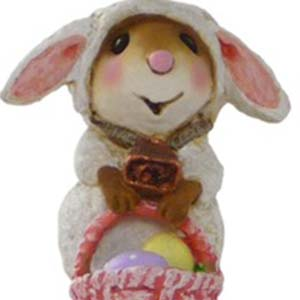 M-433 Mommy's Little Lamb - Easter Wee Forest Folk Collectible
