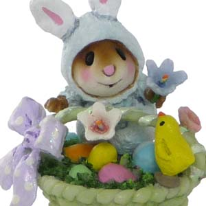 TM-5 Wee Bunny's Basket - Easter Wee Forest Folk Collectible