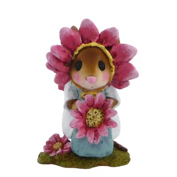M-338b Little Miss Pink Petals  Wee Forest Folk Collectible  Garden Series