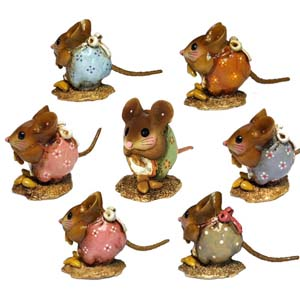 NM-1 Nibble Mouse! (set of 7) &#8211; Wee Forest Folk