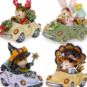 Honk For Holidays! (Set of 6) M-454a, M-454b, M-454c, M-454d, M-454e, M-454f