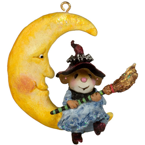 M-623a Broom to the Moon! Ornament