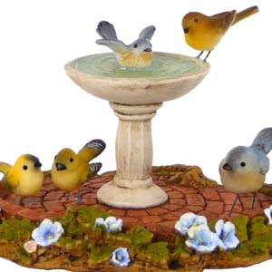 A-9 Birdbath &#8211; Wee Forest Folk Collectible