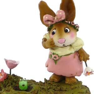 B-16 Look Who's in Bunny's Garden – Wee Forest Folk Collectible
