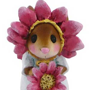 M-338b Little Miss Pink Petals - Wee Forest Folk Collectible