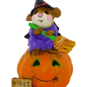 M-205 Broom Service – Halloween Wee Forest Folk Collectible