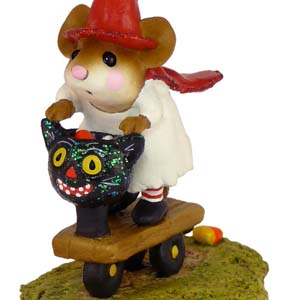 M-296 Scootin' with the Loot - Halloween Wee Forest Folk Collectible