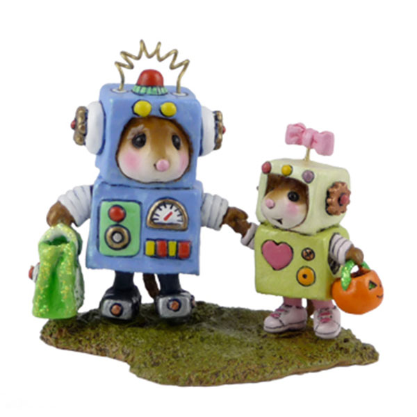 M-399 Robbie & Rosie Robots - RETIRED Wee Forest Folk Collectible