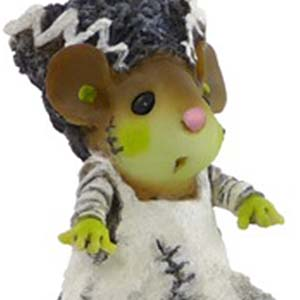 M440 Bride of Frankenmouster  Halloween Wee Forest Folk Collectible
