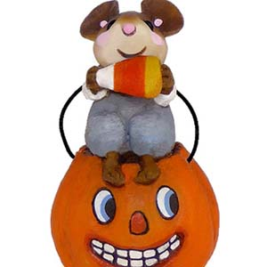 TM-3 Li'l Jack O'Lantern – Halloween Wee Forest Folk Collectible