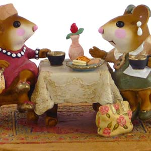 M-285 Tea with Tillie - Wee Forest Folk Collectible