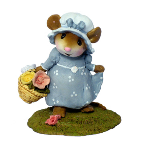 M-346 My Little Yellow Basket - Wee Forest Folk Collectible - Mice