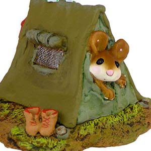 MS-16 Camping Out &#8211; RETIRED Wee Forest Folk Collectible