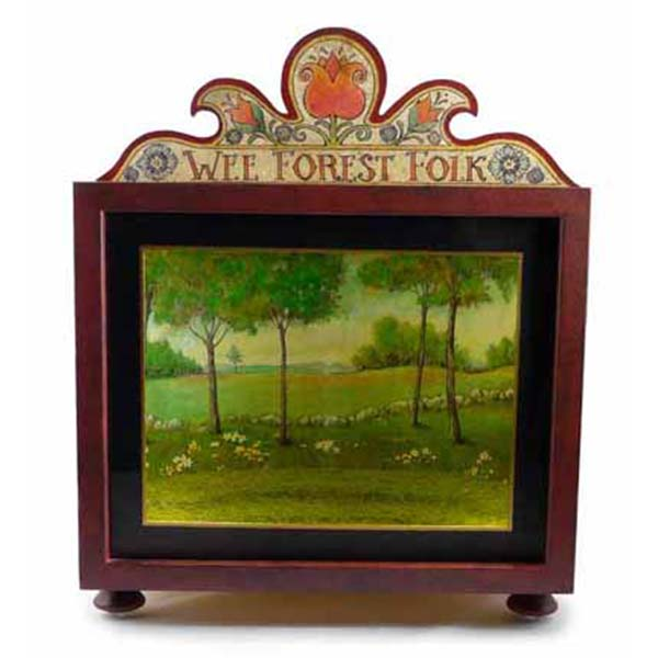 Wee Forest Folk Collectible Display Box (plus both Summer and Winter backdrops)