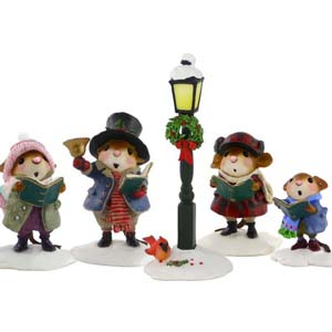 Christmas Carolers (complete set) &#8211; M-419, M-420, M-421, M-422, A-12
