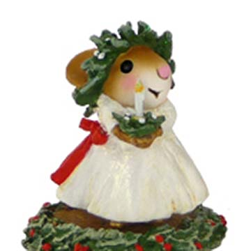 M-448 Santa Lucia&#8217;s Little Sister &#8211; A Scandinavian Christmas &#8211; Wee Forest Folk Collectible