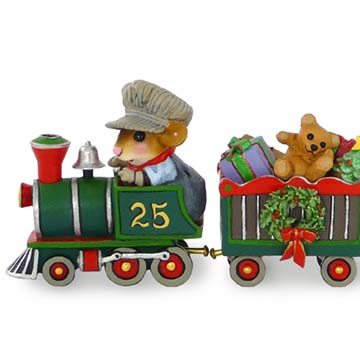 Christmas Train Set – M-453 Wonderland Express, M-453a Christmas Box Car