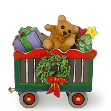 M-453a Christmas Box Car &#8211; Wonderland Express &#8211; Wee Forest Folk Collectible