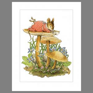 Note 3: Mushroom (set of 6 note cards)