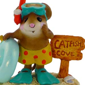 M-293 Catfish Cove - RETIRED Wee Forest Folk Collectible