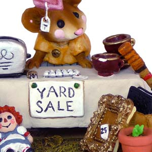 M-202 The Yard Sale &#8211; RETIRED Wee Forest Folk Collectible