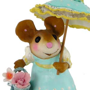 M-341a My Polka-Dotted Parasol - Wee Forest Folk Collectible