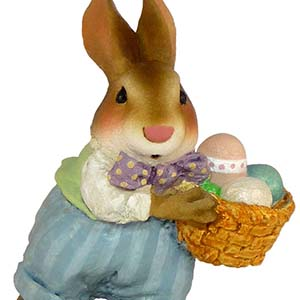B-17 Easter Bunny &#8211; RETIRED Wee Forest Folk Collectible