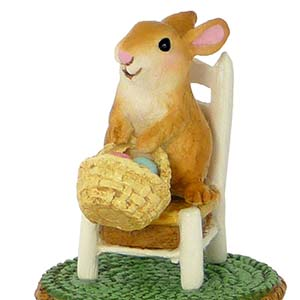 A-17 Bunny&#8217;s Wee Chair &#8211; Wee Forest Folk Collectible &#8211; Easter