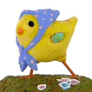 A-2 Little Chick with Kerchief - Easter Wee Forest Folk Collectible