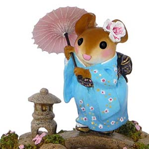 M-459 Japanese Garden &#8211; Wee Forest Folk Collectible &#8211; In the Garden