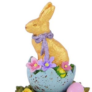 A-19 Chocolate Easter Bunny - Wee Forest Folk Collectible
