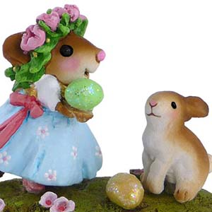 M-448a Some Bunny to Love - LIMITED Wee Forest Folk Collectible