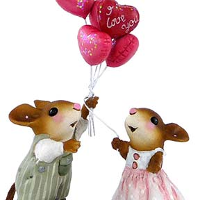 M-461a Love is in the Air - LIMITED Wee Forest Folk Collectible