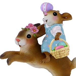 M-479 Easter Bunny Hop - Wee Forest Folk Collectible