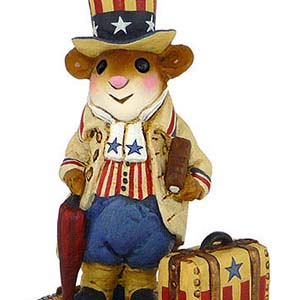 CM-1s Ezra's Arrival - LIMITED Patriotic Wee Forest Folk Collectible