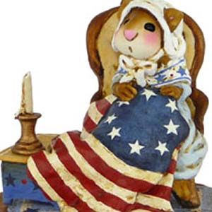 CM-2s Sarah&#8217;s Stars &#038; Stripes &#8211; LIMITED Patriotic Wee Forest Folk Collectible