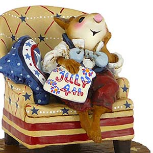 CM-3s Nathan's Armchair Reflections – LIMITED Patriotic Wee Forest Folk Collectible