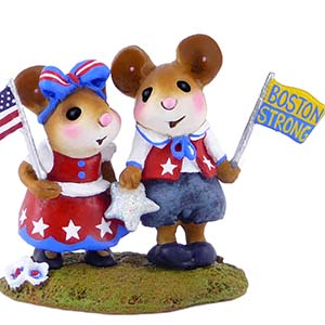 "M-331a-BOS ""Boston Strong"" – LIMITED Wee Forest Folk Collectible"