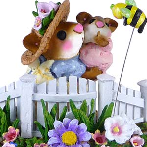 M-69b  Baby's Secret Garden - LIMITED Wee Forest Folk Collectible
