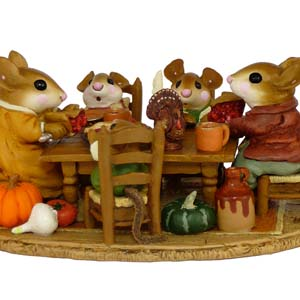 M-302 Family Gathering &#8211; Thanksgiving Wee Forest Folk Collectible